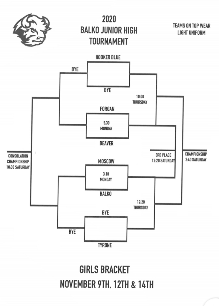 JH Girls Balko Tournament Bracket